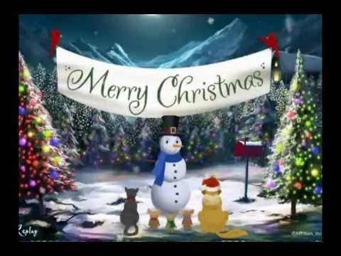 Merry Christmas Video Card Greeting