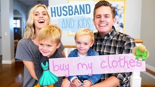 HUSBAND BUYS MY CLOTHES CHALLENGE! (With Kids!) | Ellie and Jared