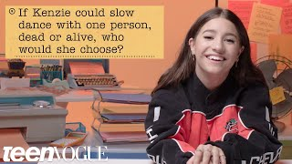 kenzie ziegler Guesses How 2,042 Fans Responded to a Survey About Her   Teen Vogue