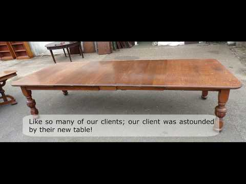 Stunning 12 ft Victorian Oak Arts & Crafts Table