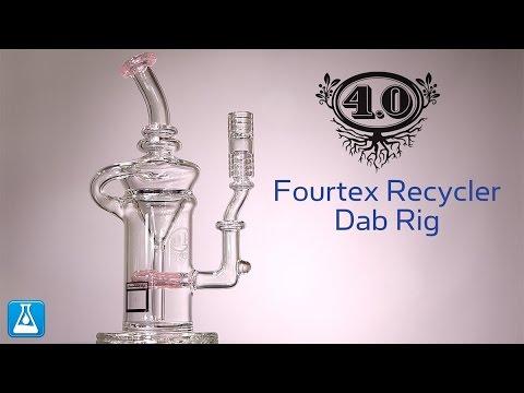 4.O Glass Fourtex Recycler Dab Rig