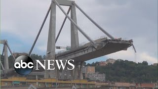 Highway collapses in Italian city