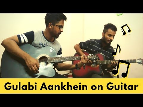 Gulabi Aankhen SONG on Guitar | Atif Aslam | Guitar Chords