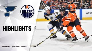NHL Highlights   Blues @ Oilers 11/06/19