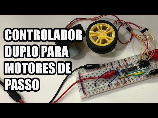 MONTAMOS UM CONTROLADOR DUPLO DE MOTORES DE PASSO! | Usina Robots US-3 #008