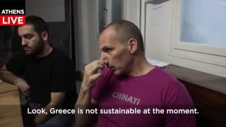 Yanis Varoufakis Guerilla Interview Part 1
