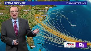 Tracking Florence and Tropics with Evan Stewart on September 8, 2018