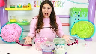 FIXING GIANT BUCKETS OF OLD DESTROYED SLIME INTO NEW BEAUTIFUL SLIMES  Part 3 Slimeatory #526