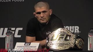 "UFC Seasonal Press:  Khabib Nurmagomedov - No ""Jumping"" Over the Cage at UFC 242"