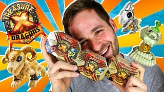 Treasure X Dragons Series 2 UNBOXING 3 CAJAS MINI BESTIAS SORPRESA | Mega UNBOXING Treasure X PeToys