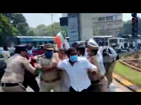 Telangana Congress organise 'Chalo Assembly'; many leaders detained by cops