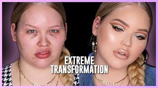 AFFORDABLE EXTREME GLAM TRANSFORMATION!