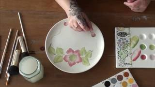One Stroke Painting on Pottery / Ceramics