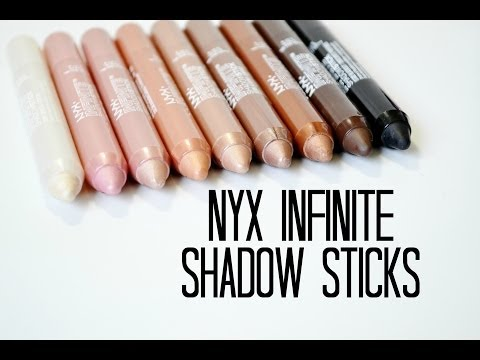 Review and Swatches: NYX Infinite Shadow Sticks
