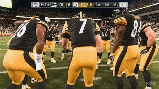 Madden NFL 19 - Pittsburgh Steelers vs Green Bay Packers - Gameplay (HD) [1080p60FPS]