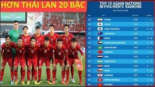 Tuyển Việt Nam thăng tiến vượt bậc trên bảng xếp hạng mới nhất của FIFA - News Tube