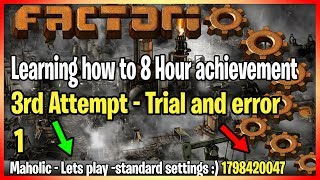 Learning How To Achieve the 8 hour Speed achievement - Factorio Let's play 3.1