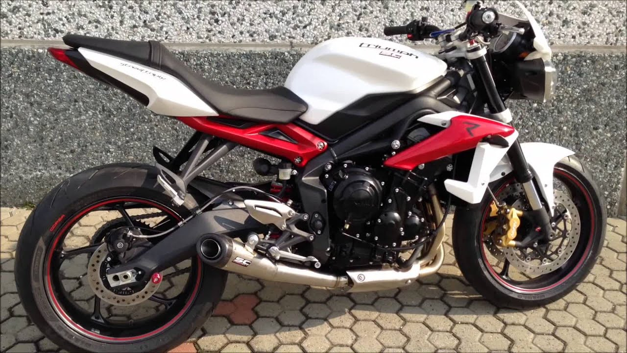 triumph street triple 675 2013 sc project conic exhaust youtube. Black Bedroom Furniture Sets. Home Design Ideas