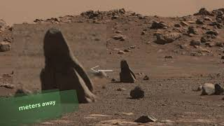 Mars Perseverance Rover: Interesting Objects Around the Landing Site Part 1
