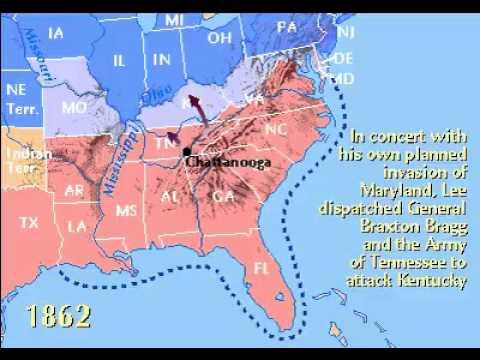 American Civil War Timeline 1861 1865 Youtube