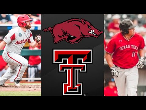 #5 Arkansas vs #8 Texas Tech College World Series Elimination Game | College Baseball Highlights