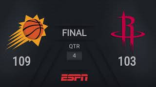 Suns @ Rockets | NBA on ESPN Live Scoreboard