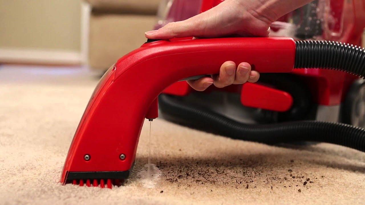 Rug Doctor Portable Spot Cleaner Using The Motorized Brush