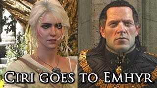 Witcher 3: Ciri Meets Her Father (Emperor Emhyr)