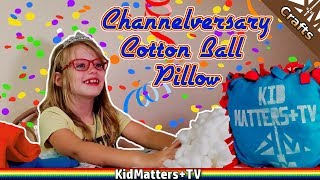 2 YEAR CHANNELVERSARY! Making a Subscriber Pillow | No Sew Pillow Cover [KM+Crafts S03E001]
