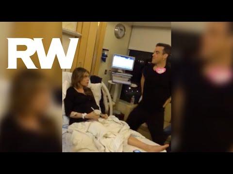Како Роби Вилијамс и помагаше на својата сопруга пред да се породи