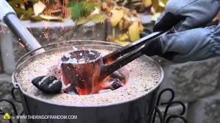 Melting Cans  to Make a Sword With The Mini Metal Foundry