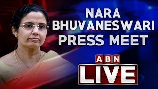 Nara Bhuvaneswari Press Meet At NTR Trust Bhavan..