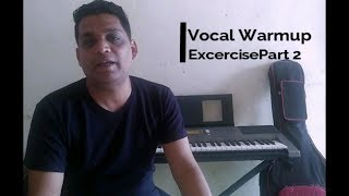 Best Vocal warm up exercise in Hindi part 2