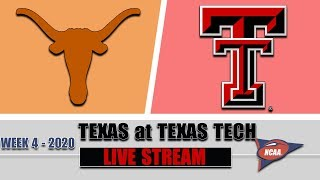 Texas Longhorns vs Texas Tech Red Raiders Live | 2020 College Football Week 4 | 9/26/2020
