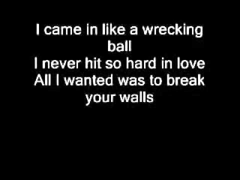 Baixar Miley Cyrus   Wrecking Ball Con letra original