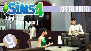 🏠 Modern High End Restaurant   Sims 4 Speed Build