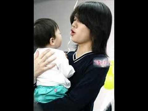 Super Junior with child