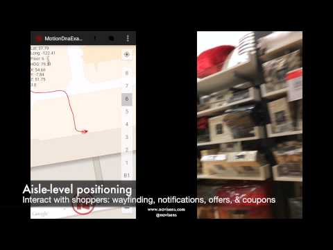 Navisens™ motionDNA™ Indoor Location Demo at Macy's San Francisco