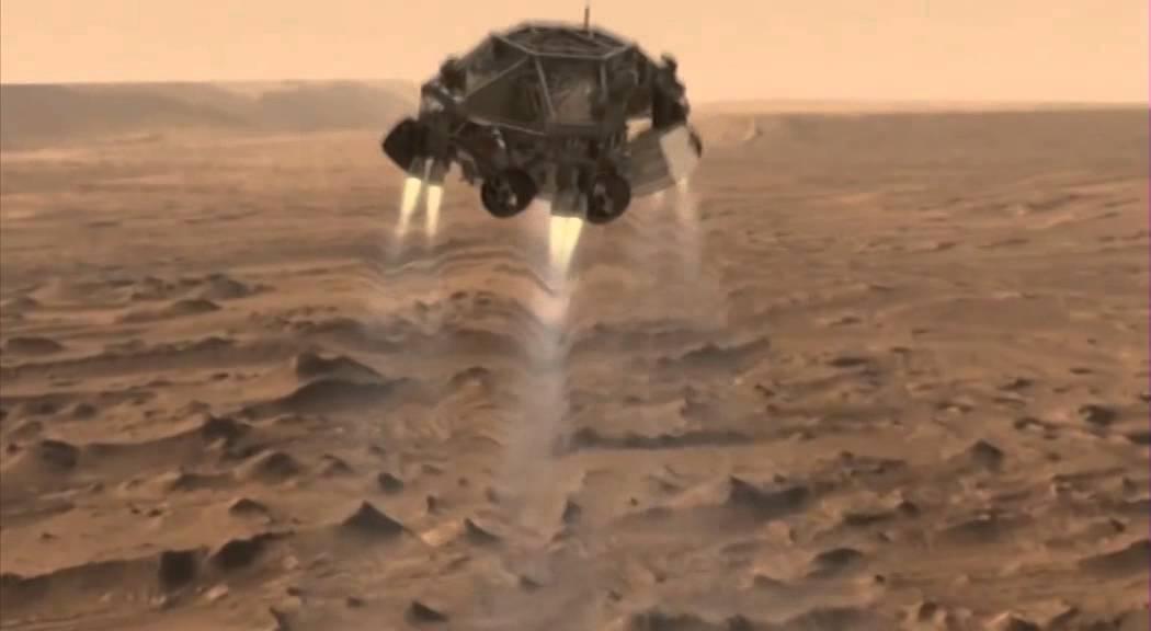 Curiosity landing on Mars & Hans Zimmer music (3D NASA ...