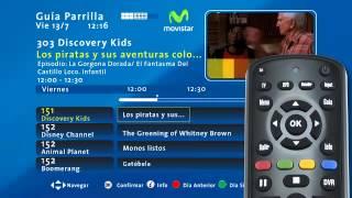 ¿Cómo manejar tu guía de pantalla en tu Movistar TV HD?