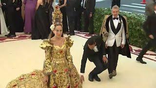 Divine designs grace Met Gala carpet
