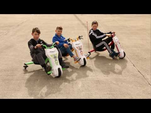 video Электроскутер Дрифт Карт Drift-Trike (Drift Car) Синий хаки