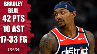 Bradley Beal continues hot streak, scores 42 in Wizards vs. Jazz | 2019-20 NBA Highlights