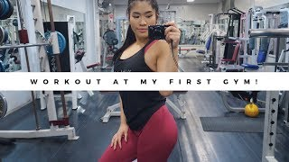 VISITING MY FIRST GYM  // full leg workout