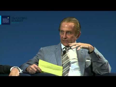 WTTC Global Summit 2016 Dallas USA  Geoffrey Kent interviews  Bill Marriott