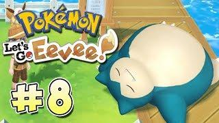 Pokémon Let's Go Eevee | Parte 8 | ¡Snorlax bloquea el paso! |  Chequio