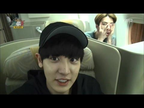 141112 비행기 안 EXO-K