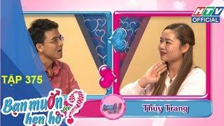 """HTV BẠN MUỐN HẸN HÒ   Chàng trai bày tỏ """"Tình đơn phương""""   BMHH #375 FULL   16/4/2018"""