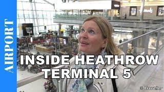 INSIDE HEATHROW AIRPORT TERMINAL 5 - Departing from London Heathrow Airport