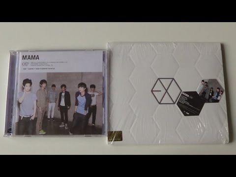 Unboxing EXO-K 1st Mini Album MAMA (Korea & China Edition)